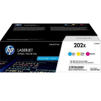 HP Inc. HP 202X Tri-Color Toner Cartridges, High Yield CF500XM