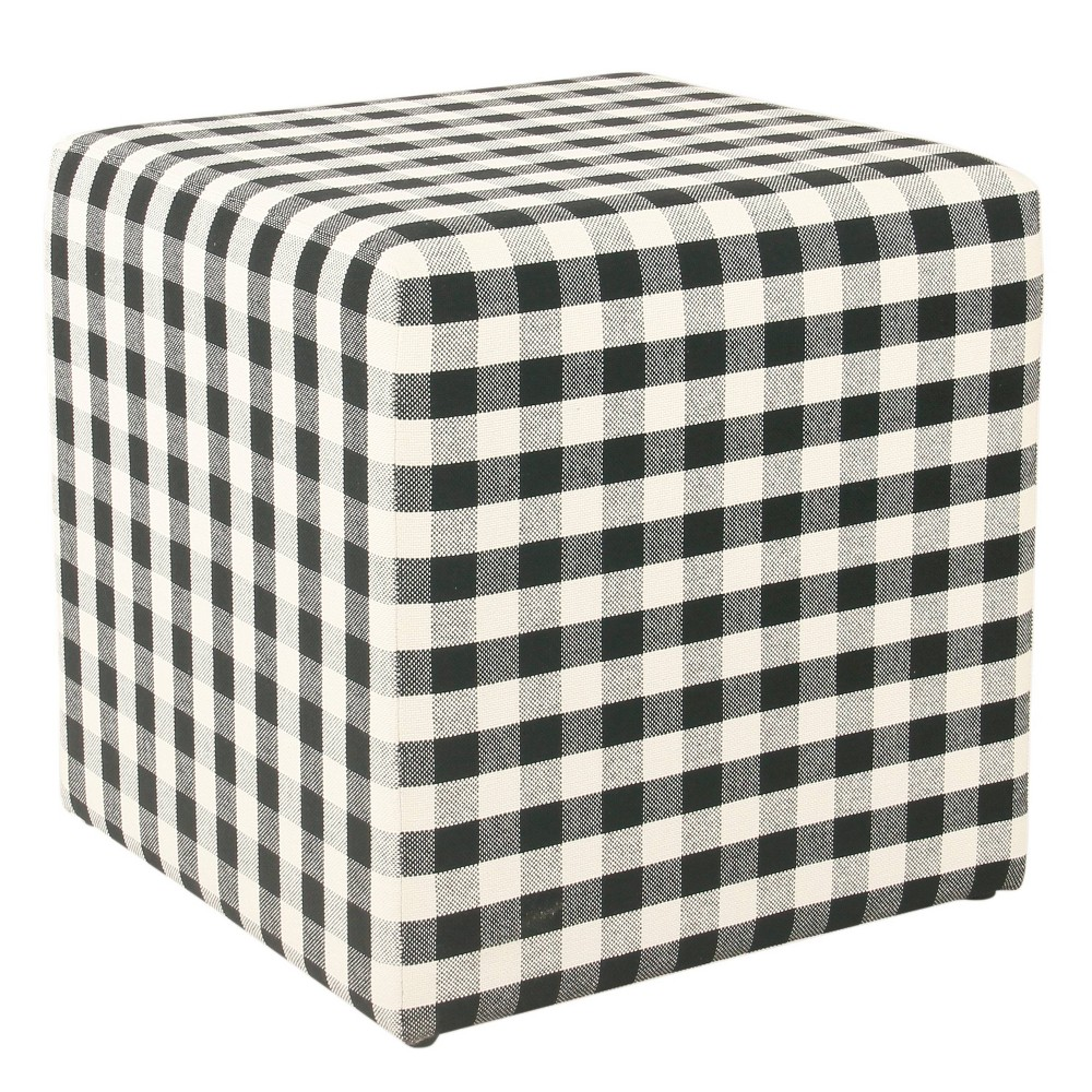 Small Square Ottoman Black - Homepop was $84.99 now $63.74 (25.0% off)