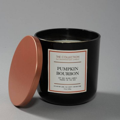 Glass Jar 2-Wick The Collection Bourbon Pumpkin Candle - Chesapeake Bay Candle