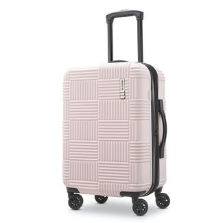 """American Tourister 20"""" Checkered Carry On Hardside Suitcase - Pink"""