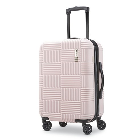 "American Tourister 20"" Checkered Hardside Suitcase - Pink - image 1 of 10"