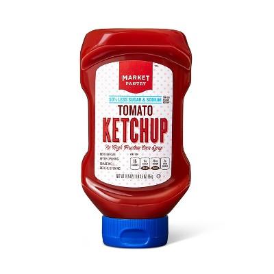 Tomato Ketchup 50% Reduced Sugar and Sodium - 19.5oz - Market Pantry™