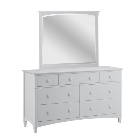 Essex 7 Drawer Dresser Dove Gray With Framed Wood Mirror - Bolton Furniture - image 1 of 2