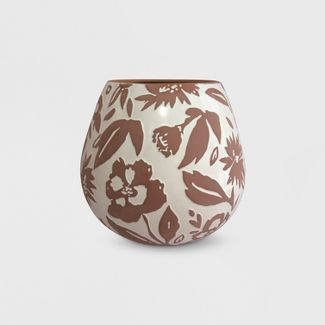"13"" Textured Pattern Planter Terracotta - Opalhouse™"