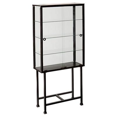 Storage Cabinet with Sliding Doors Black - Aiden Lane
