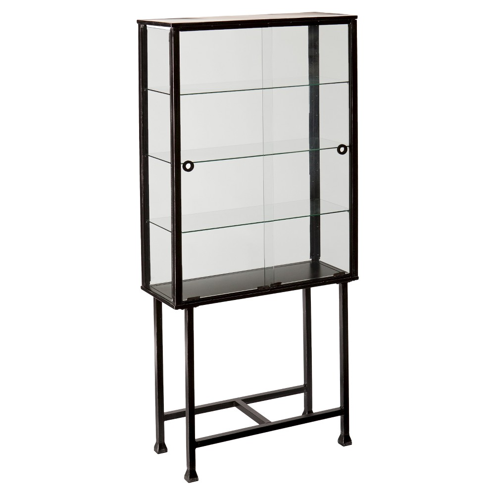 Buy Storage Cabinet With Sliding Doors - Black - Aiden Lane