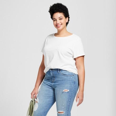 Women's Plus Size Meriwether Crew Neck Short Sleeve T-Shirt - Universal Thread™ - image 1 of 3