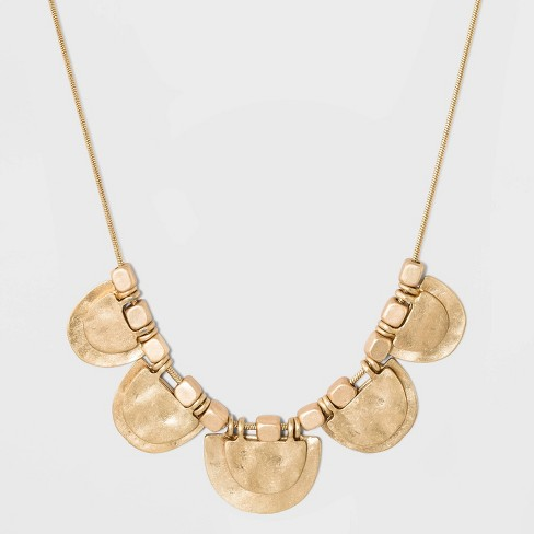 Hammered Half Moon Necklace - Universal Thread™ Gold - image 1 of 2