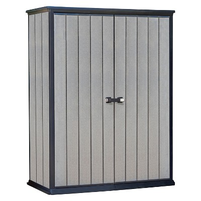 High Store Customizable Horizontal Outdoor Storage Shed   Gray   Keter :  Target
