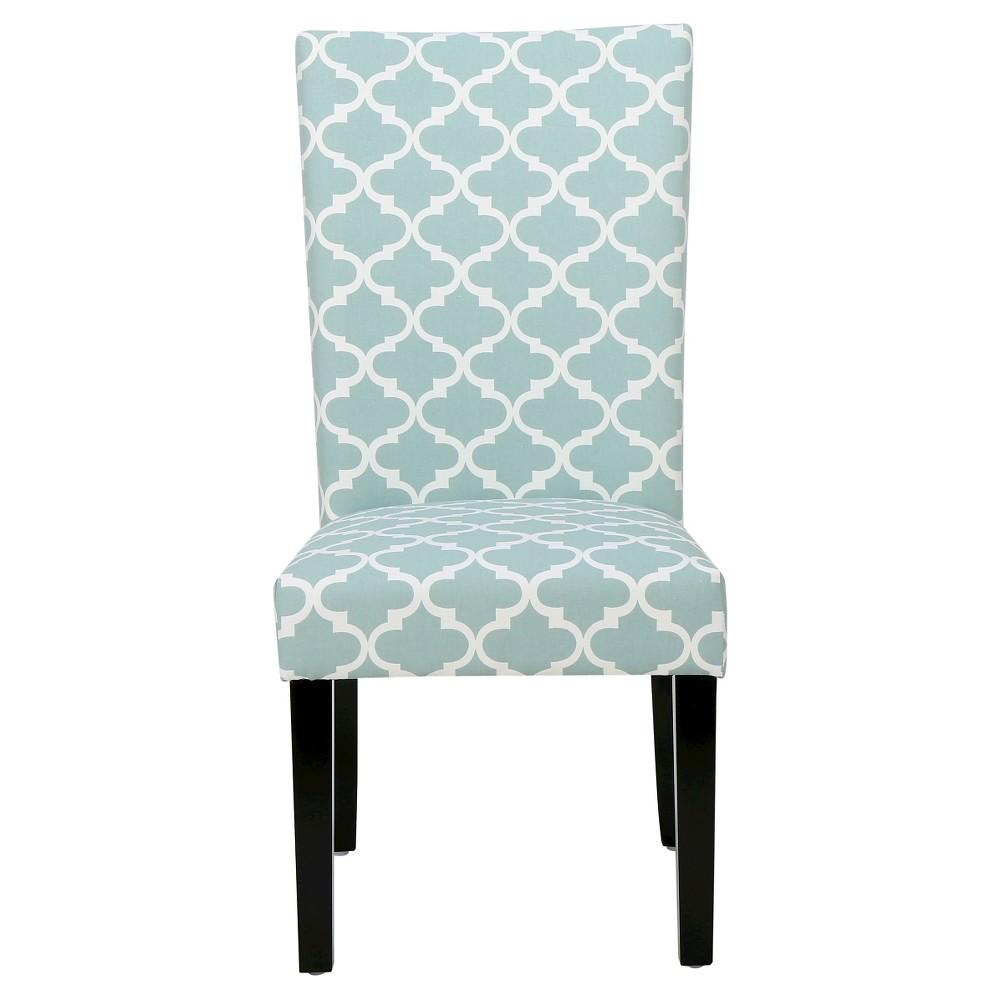 Aurora Fabric Geometric Print Dining Chair Light Blue (Set of 2) - Christopher Knight Home, Lite Blue