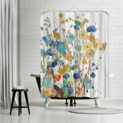 """Americanflat Spring Garden I by Pi Creative Art 71"""" x 74"""" Shower Curtain"""