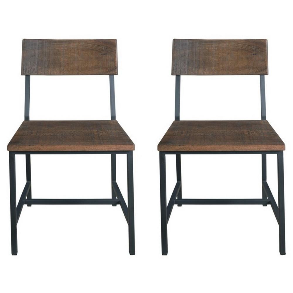 Woodbridge Dining Chairs (Set of 2) - Distressed Brown - Treasure Trove