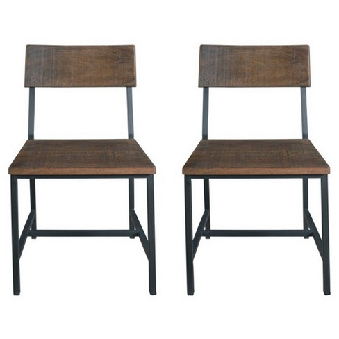 Prime Woodbridge Dining Chairs Set Of 2 Distressed Brown Treasure Trove Gmtry Best Dining Table And Chair Ideas Images Gmtryco