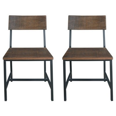 Charmant Woodbridge Dining Chairs (Set Of 2)   Distressed Brown   Treasure Trove