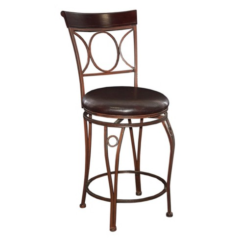 "Circles Back 24"" Counter Stool Metal/Black - Linon - image 1 of 4"