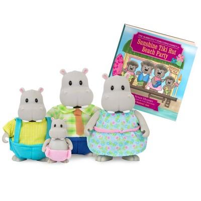Li'l Woodzeez Miniature Animal Figurine Set – The Riverdipper Hippo Family