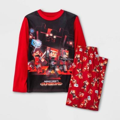 Boys' Minecraft 2pc Pajama Set - Red