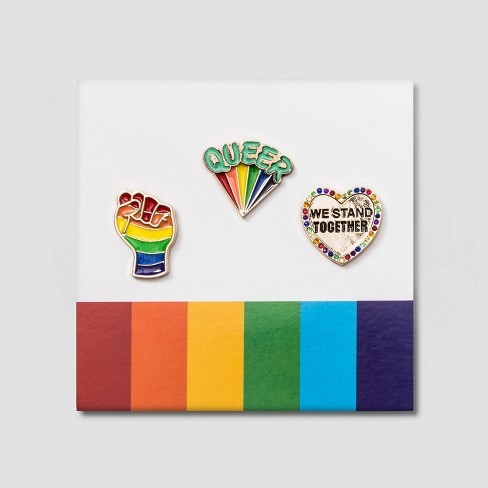 Pride Heart & Fist Pins - image 1 of 1