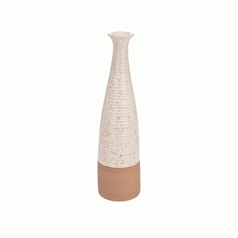 Fluted Speckle Vase - Foreside Home and Garden - image 1 of 2