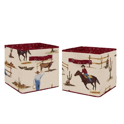 Wild West Fabric Storage Bins - Sweet Jojo Designs