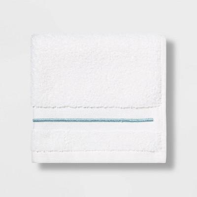 Spa Washcloth Aqua Stripe- Threshold Signature™