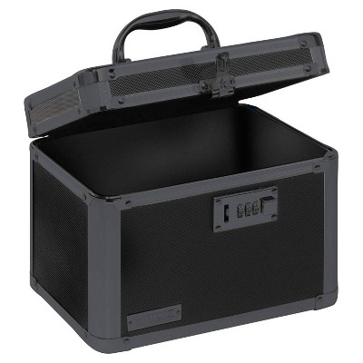 Vaultz Personal Storage Box with Combination Lock - Black