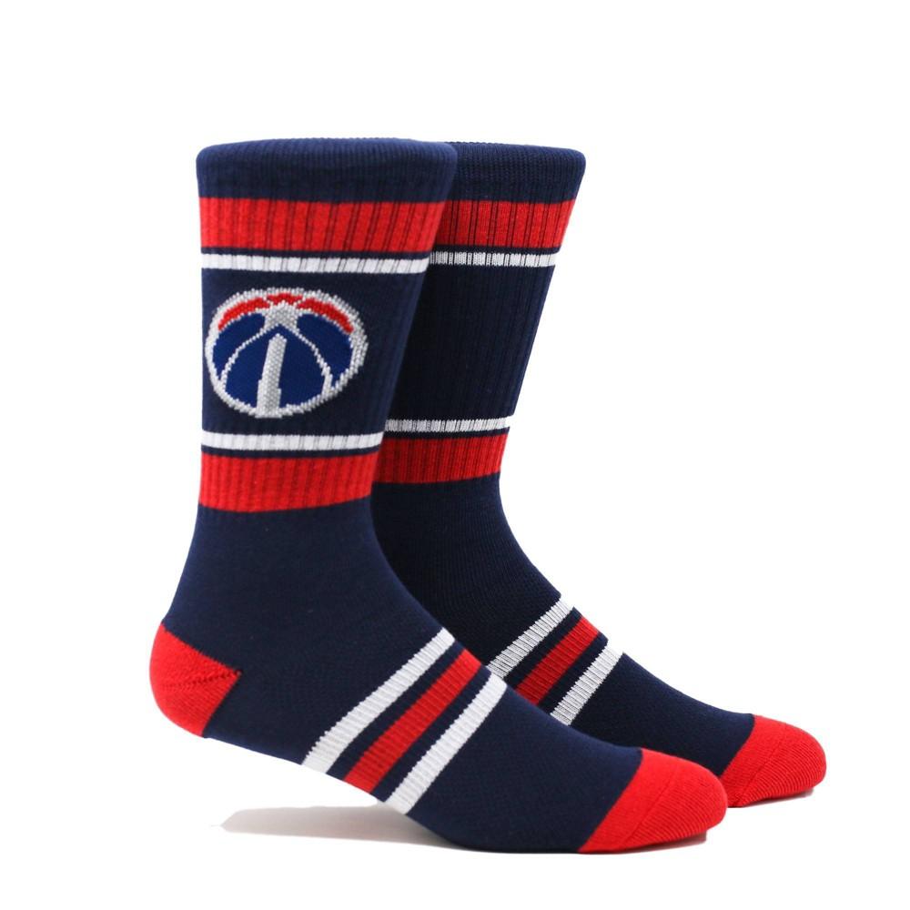 NBA Washington Wizards Stripe Crew Socks - L