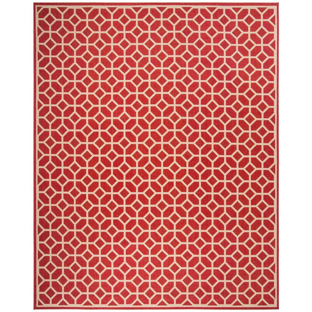 9'X12' Geometric Loomed Area Rug Red/Cream (Red/Ivory) - Safavieh