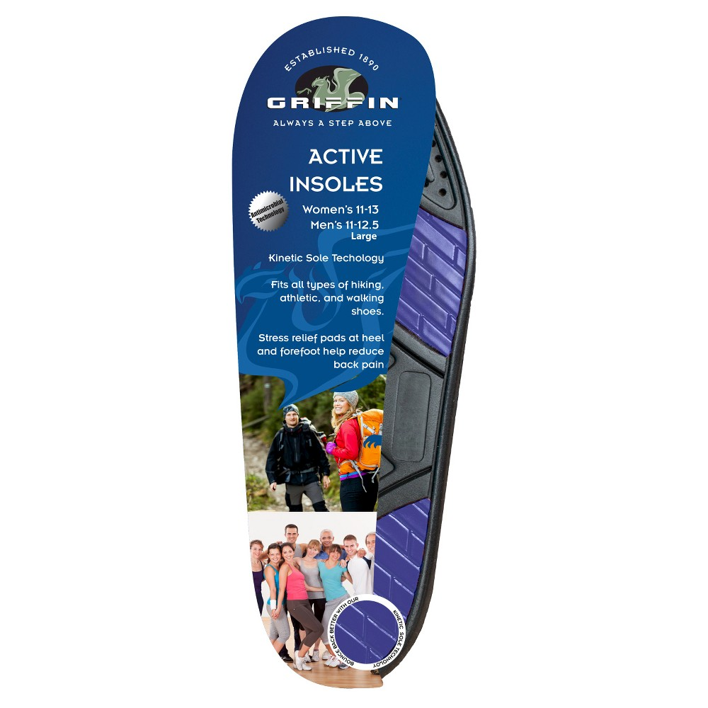 Griffin Footwear Cushions Active Insoles - Multi-Colored L