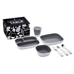 Munchkin Color Me Hungry Splash Dining Set - Gray