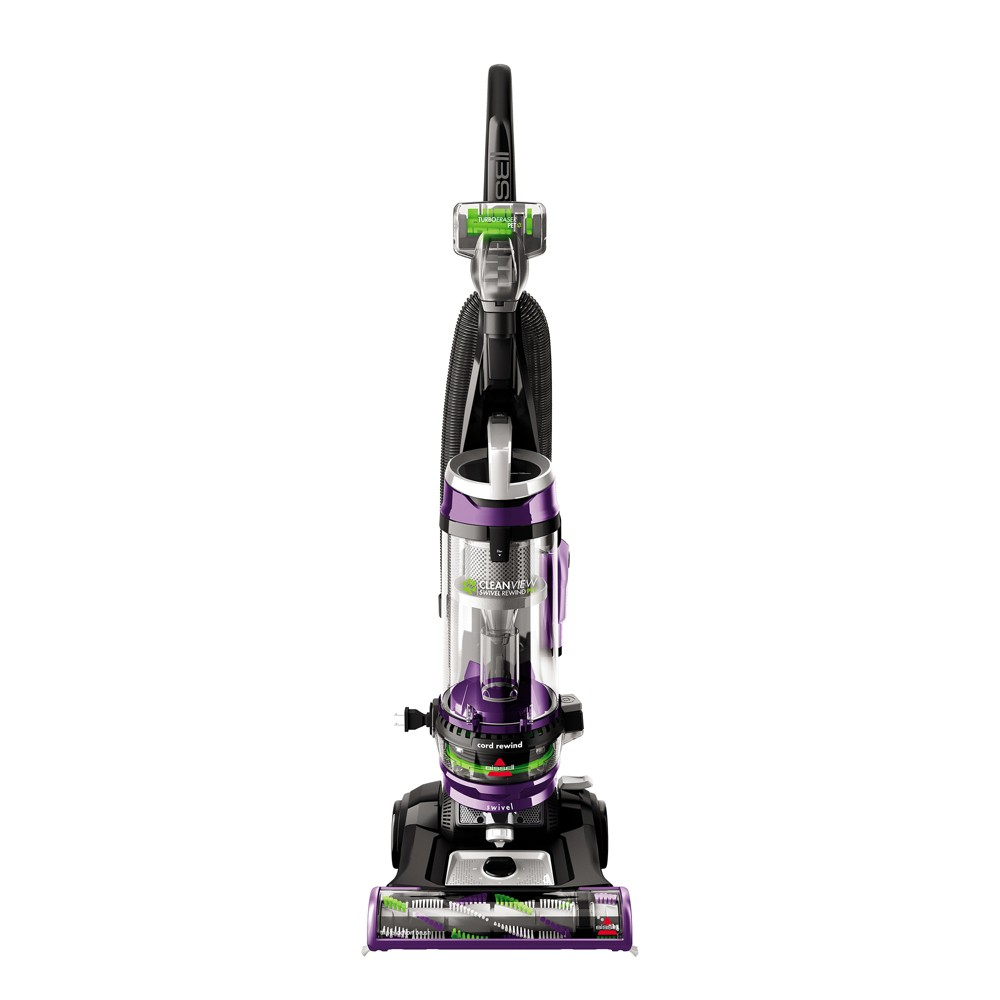 Image of BISSELL CleanView Swivel Rewind Pet Deluxe Vacuum Cleaner 2258, Purple