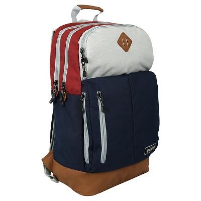 "Bondka 19.5"" Eolus Backpack - Blue/Tan/Maroon"