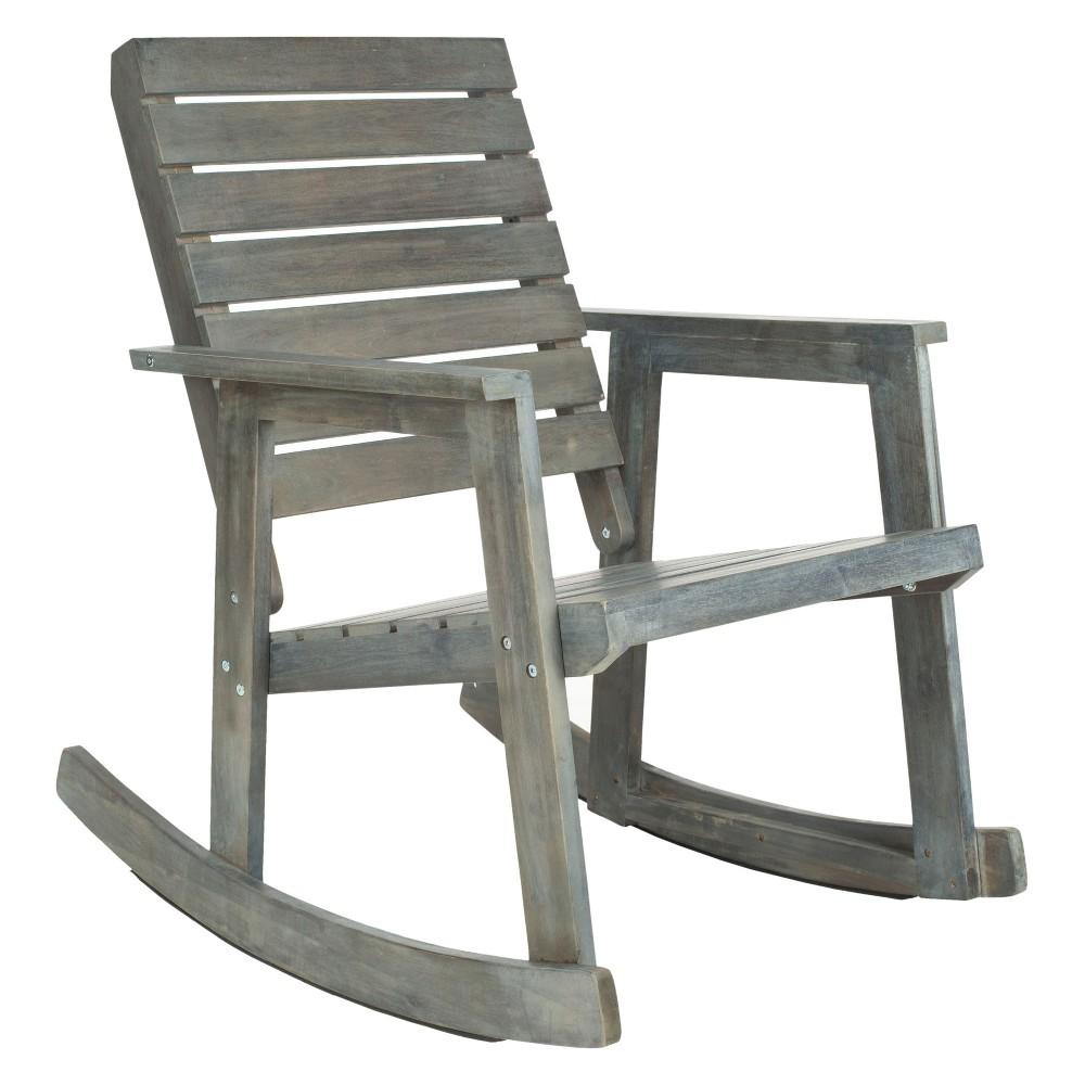 Geneva Wood Patio Rocking Chair - Gray - Safavieh, Ash Gray