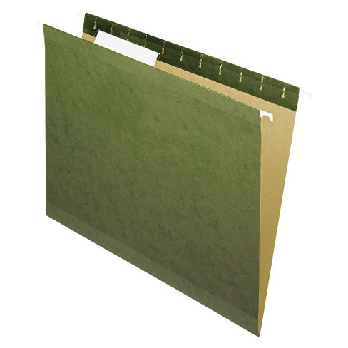 Pendaflex Reinforced Hanging File Folders with 1/3 Tab, Letter - Green (25 Per Box) - image 1 of 2