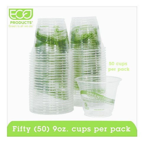 Eco-Products® Green Stripe Renewable & Compostable Cold Cups Convenience Pack 9oz - 50ct - image 1 of 2