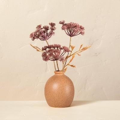 """Large 9.5"""" Faux Bleached Purple Achillea Flower Plant Arrangement - Hearth & Hand™ with Magnolia"""