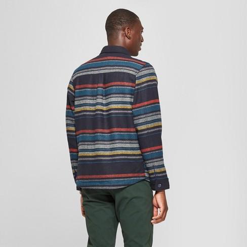 0a1bd74ef155 Men's Long Sleeve Striped Wool Blend Shirt Jacket - Goodfellow & Co™ Xavier  Navy : Target