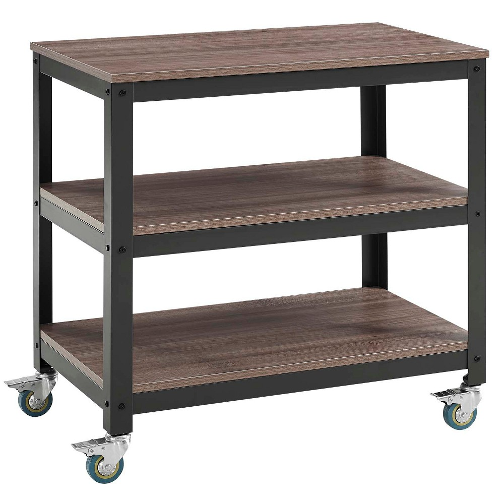 Vivify Tiered Serving Stand Gray Walnut (Brown) - Modway