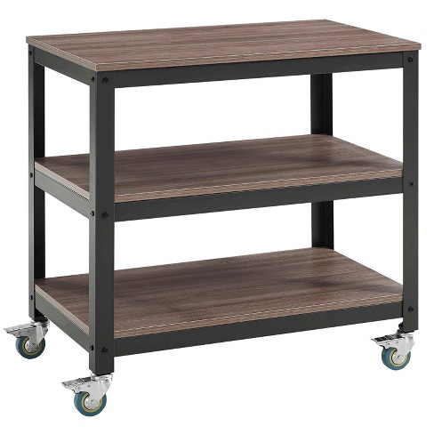 Vivify Tiered Serving Stand Gray Walnut - Modway - image 1 of 4