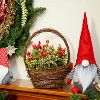 """Northlight 12"""" Pine Cones Berries and Boxwood in Twig Basket Christmas Tabletop Decoration - image 3 of 3"""