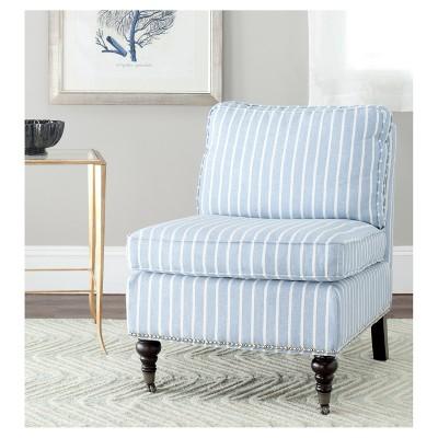 Charmant Serafina Slipper Chair   Blue/White Stripes   Safavieh® : Target