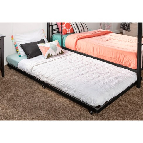 Trundle Bed.Twin Roll Out Trundle Bed Frame Saracina Home