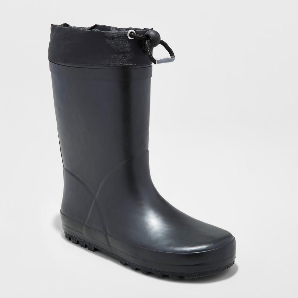 Boys' Noel Rain Boots - Cat & Jack 5, Black