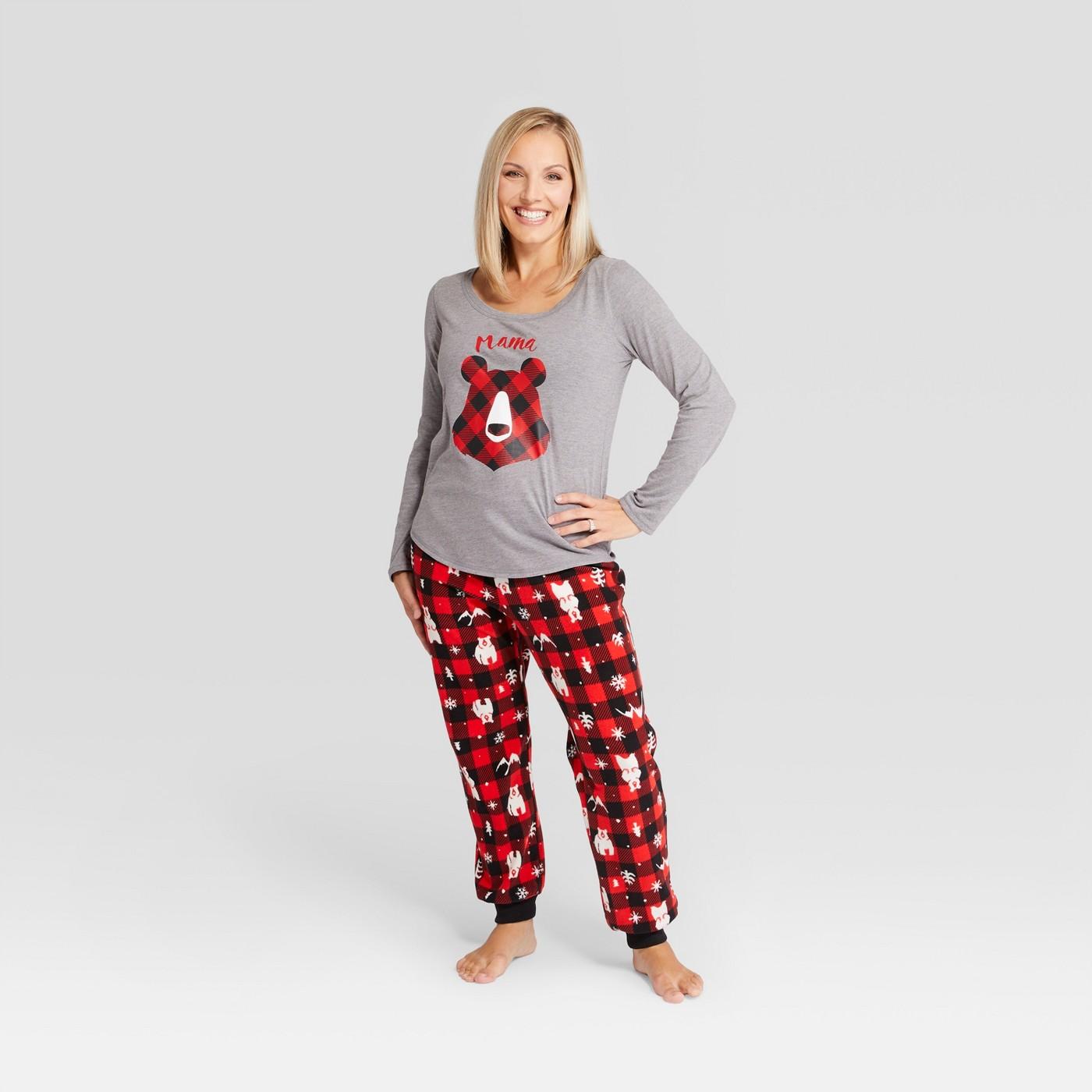 Women's Holiday Bear Pajama Set - Wondershop™ Red - image 1 of 3