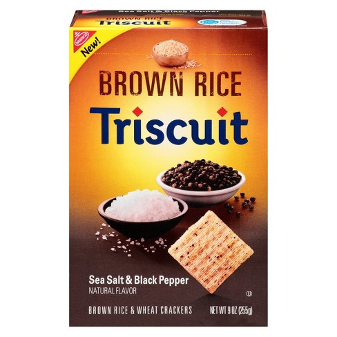 Triscuit Sea Salt & Black Pepper Brown Rice Crackers - 9oz - image 1 of 1