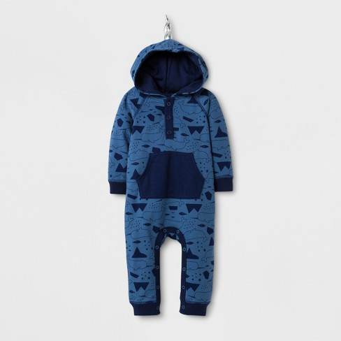1417845e8cc Baby Boys  Narwhal Print Critter Romper - Cat   Jack™ Shallow Blue ...