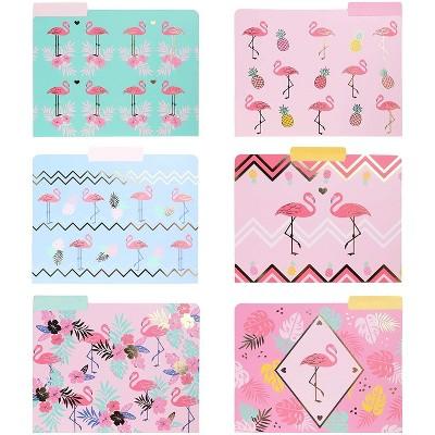 Paper Junkie 12-Pack File Folders, Flamingo Office Supplies 9.5 x 11.5 in