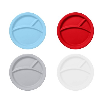 """Red Rover 9"""" 4pk Bamboo Kids' Divided Plates"""