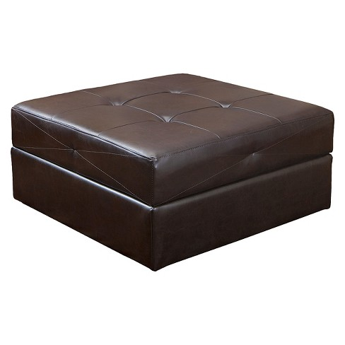 Burlington Storage Ottoman Brown - Christopher Knight Home - image 1 of 4