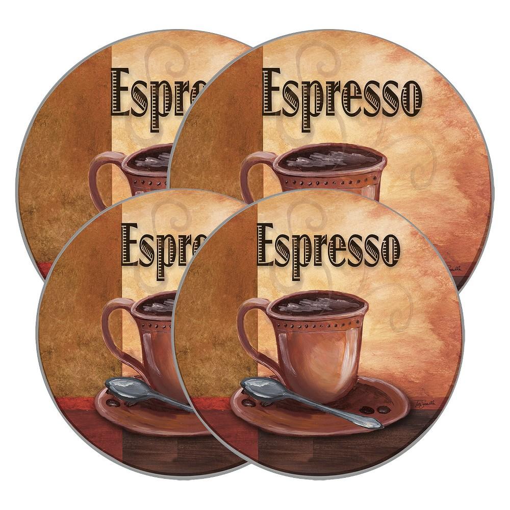 Range Kleen Burner Kovers Round La Caffe Espresso, Brown